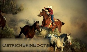 Ostrich Skin Boots
